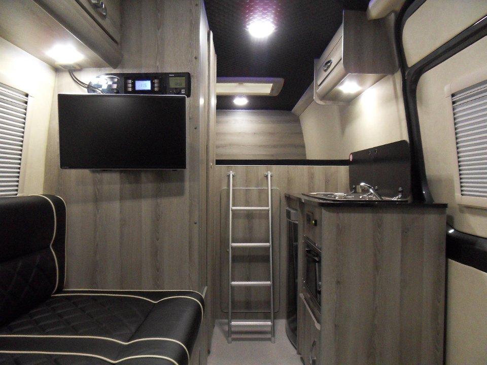 4x4 Mercedes Sprinter Silver Birch Interior