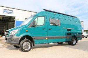 4x4 green sprinter campervan