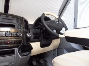 leather dash and steering wheel
