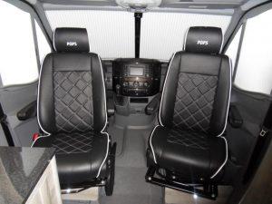 black leather captain seats