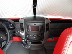 red leather dashboard